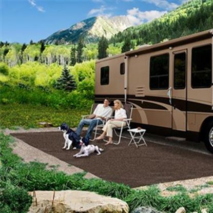 Picture of Prest-o-Fit  6' x 9' Espresso Camping Mat 2-1080 01-3002