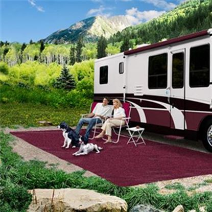 Picture of Prest-o-Fit  6' x 9' Burgundy Wine Camping Mat 2-1084 01-3007