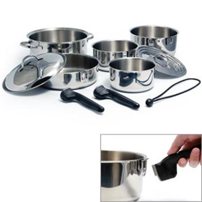 Picture of Camco  Stainless Steel w/ Aluminum Core Cookware Set 43921 03-1959