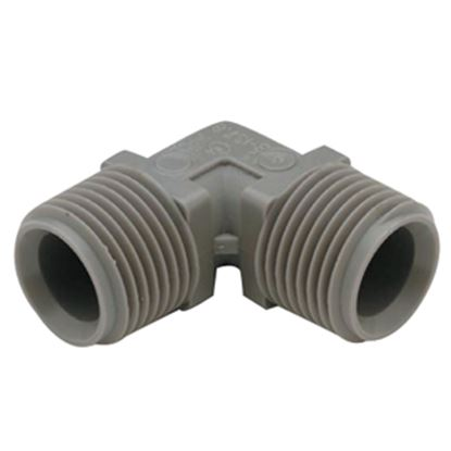 "Picture of QEST Qicktite (R) 1/2"" Barb x 3/8"" Barb Plastic Fresh Water Adapter Fitting  10-3053"