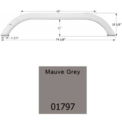 Picture of Icon  Mauve Gray Tandem Axle Fender Skirt For Carriage Brands 01797 15-1655