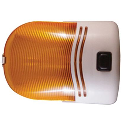Picture of Command  White w/Amber Lens Porch Light w/Switch 007-30SAP 18-0640