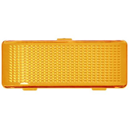 Picture of Peterson Mfg.  Amber Flat Rectangular Lens For Peterson Light Series Porch Light 384-15A 18-1057