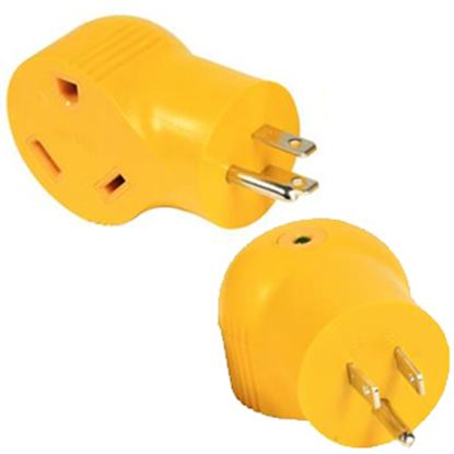 Picture of Camco Power Grip (TM) 15M/30F Power Cord Adapter 55325 19-0480