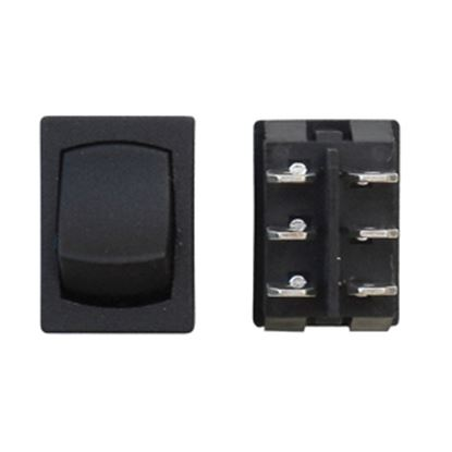 Picture of Diamond Group  Black 125V/ 16A DPDT Mini Rocker Switch w/ Bezel For Water Pumps DG241VP 19-2084