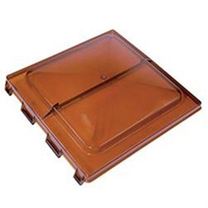 """Picture of Heng's  Smoke 14"""" x 14"""" Jensen Style Roof Vent Lid J7291RSM-C 22-0149"""