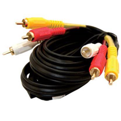 Picture of Jensen  3' Stereo Composite Video Cable JCAV3 24-3864
