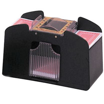 Picture of Jobar  Black/ Clear Plastic 4 Deck Battery Operated Playing Card Shuffler JC2797 69-5466