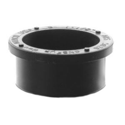 "Picture of Lasalle Bristol  Black ABS 1-1/2"" Slip Plug 632075 69-6008"